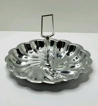 Vintage Metal Chrome Swirl Server by Shelton Wa... - $7.91