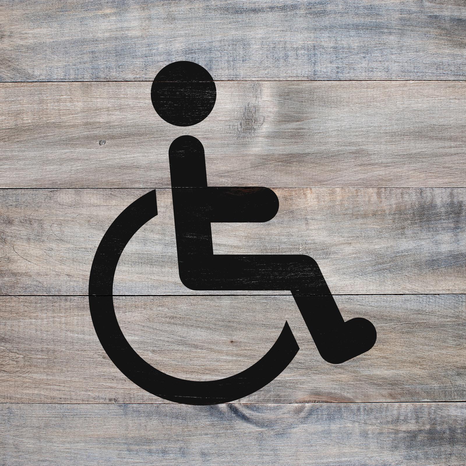 Handicap Symbol Stencil - Reusable Stencils of Handicap Sign in Multiple Sizes