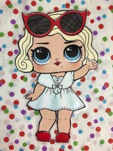 LOL Doll Leading Lady Die Cut Laminated Paper Doll Decoration New Gift - $7.70