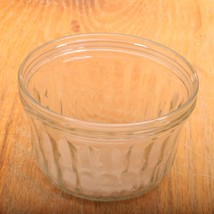 Clear Glass Small Jar With Ribbed Design - $11.20