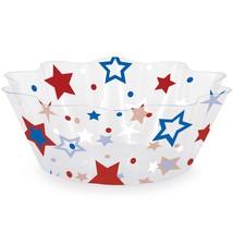 "Patriotic Stars 8"" Plastic Fluted Bowl/Case of 12 - $63.83 CAD"