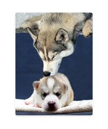 SXCHEN Flannel Blanket Throw Lightweight Cozy Plush Cute Husky Kiss Baby... - $39.75