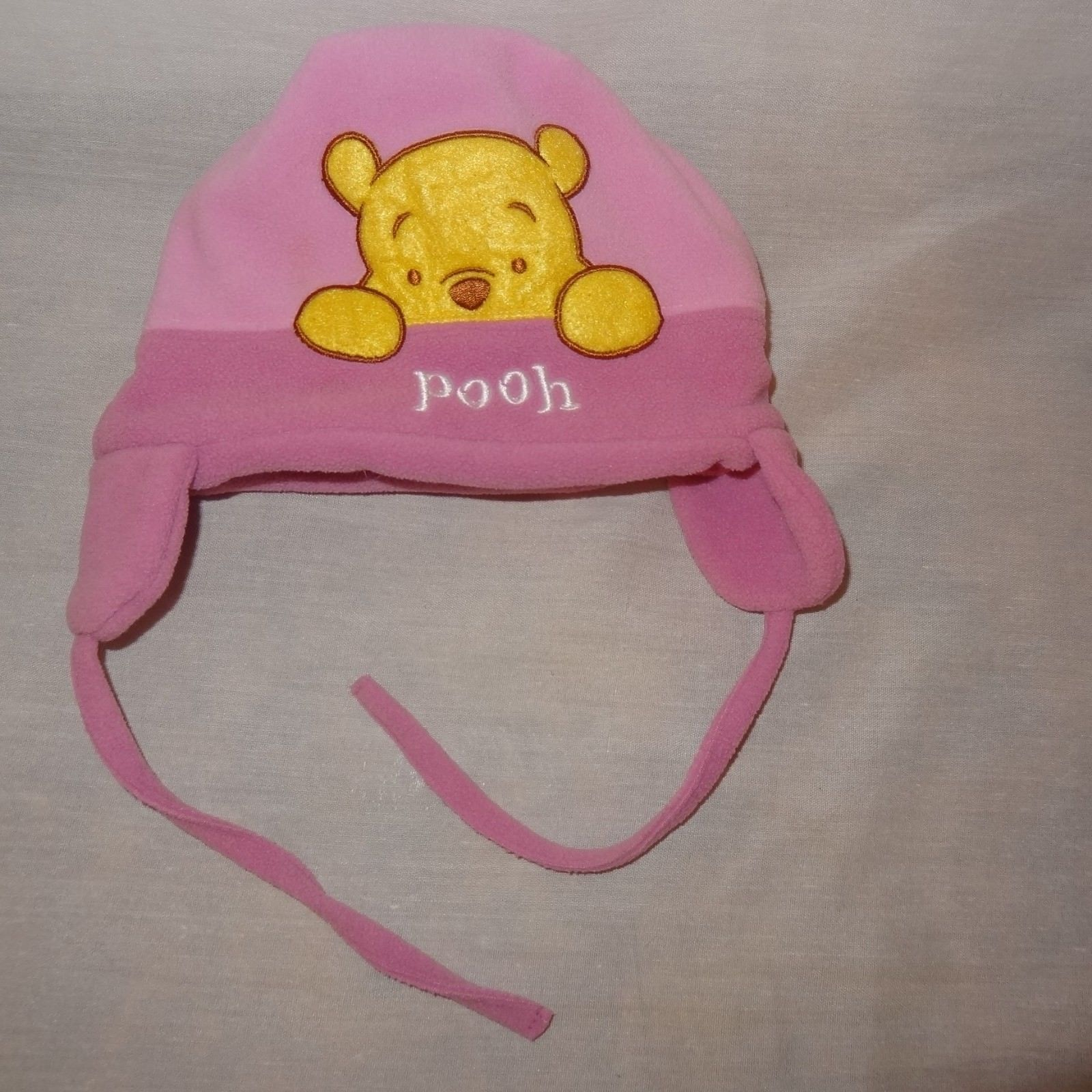Disney Winnie the Pooh Hat Winter Ear Flaps Size Infant  Pink Fleece