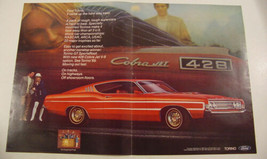 1969 Ford TORINO GT SportsRoof Cobra Red Jet V8 Two Page Photo Print Ad - $9.99