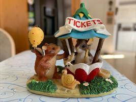 Enesco Fitz and Floyd Teeny Tiny Tails The Ticket Booth No 80/2 Rare Min... - $18.99