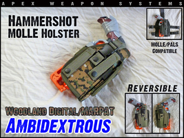 Custom NERF Tactical Gear - Hammershot MOLLE Holster - Ambidextrous - MA... - $14.99
