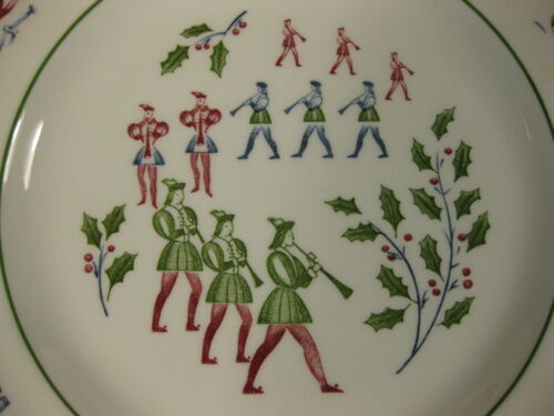 Eleven Pipers Piping Salad Plate Johnson Brothers Twelve Days of Christmas  image 2