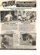 Max Elliott Slade Michael Treanor Chad Power teen magazine pinup clipping dog