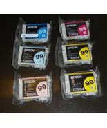 6 Lot Epson GENUINE 99 Color Ink Cartridges Cyan Magenta ARTISAN 800 810... - $42.59