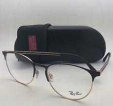 New RAY-BAN Eyeglasses RB 6375 2890 53-18 145 Black & Gold Frames w/ Demo Lenses
