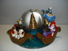 Tokyo Disney Sea Snow Globe Dome Mickey Minnie Donald Daisy Jeanie Ariel Figure - $727.65