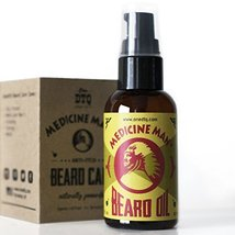 Medicine Man's Anti-itch Beard Oil 2 FL OZ - 100% Natural & Organic Leave-In Con image 2