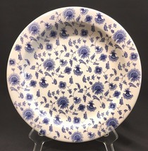 "Pier 1 Blue & White 10-1/4"" Dinner Plate Ceramica Quadrifoglio Made In Italy  - $21.99"