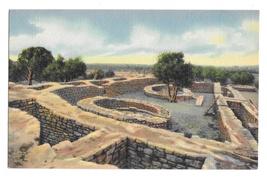 Sun Temple Mesa Verde National Park Colorado Vintage Linen Postcard - $4.99