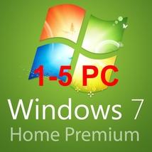 1-5pc Windows 7 home premium 32/64 BITS- OEM Product key code - $14.99+
