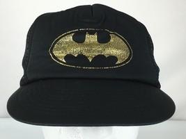 Batman DC Comics Originals Black Snap Back Mesh Trucker Cap Hat 1964 Vintage - $19.00