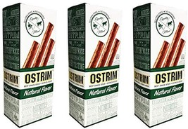 Ostrim Beef & Ostrich Meat Snack Sticks - Natural Flavor Pack of 30 - High-Prote