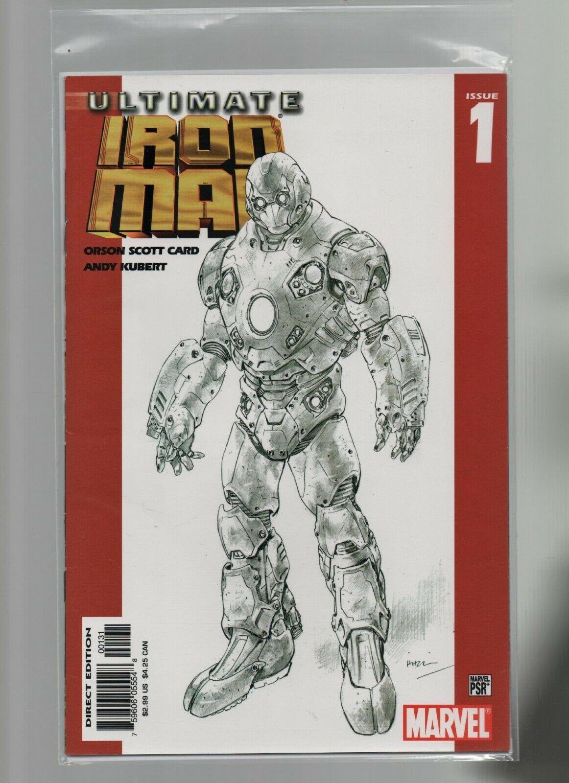 Ultimate Iron Man #1REP.2ND - Marvel Comics - 2005 Orson Scott Card, Andy Kubert