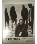"""ENTOMBED -  PROMO PICTURE - RARE - 8"""" X 10""""-FREE SHIPPING - $23.38"""