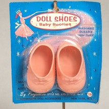 """vintage doll shoes pink 16""""-17"""" doll progressive baby bootie shoes for d... - $22.12"""