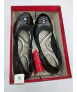 Dexflex Comfort Womens Claire Scrunch Ballet Flat Shoes Size 6 black - $28.00