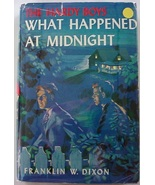 Hardy Boys What Happened at Midnight 1958A-46 Printing hcdj Franklin Dix... - $10.00