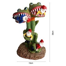 SMYER Garden Gnomes Statue, Carnivorous Flower Massacre, Great for Outdo... - $45.77