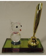 Crystal Animal Pen Holders 3in x 4in x 2in Crystal Plastic Qty 6 - $22.57
