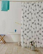 Pillowfort Arrow Fabric Shower Curtain kids bath black white  image 2