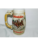 1983 Budweiser Holiday Clydesdales Beer Stein  6 1/2 Inches Tall - $15.99