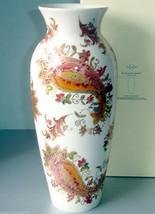 """Lenox Burnished Amber 13"""" Vase Paisley w/Lavish Gold Design $129 New - $64.90"""