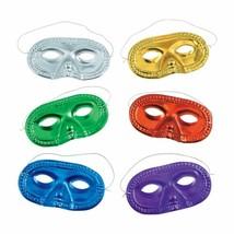Fun Express Metallic Half-Masks (2 dz) Assorted Colors. - $8.72 CAD