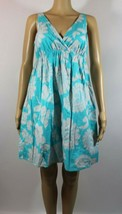 Old Navy Womens Dress Size Small Blue White Floral Lined Cotton Sundress... - $24.52