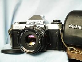 Yashica FX-D Quartz 35mm SLR Camera c/w 50mm ML Lens Cased - $35.00