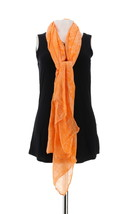 Liz Claiborne NY Double Sided Printed Scarf Orange NEW A252371 - $20.77