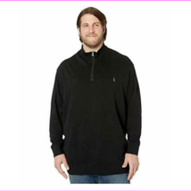 Polo Ralph Lauren Big & Tall Big & Tall Luxury Jersey 1/2 Zip Polo Black... - $48.46