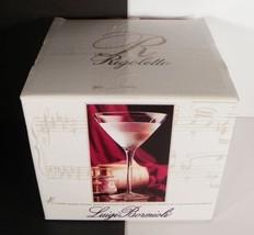 Luigi Bormioli RIGOLETTO Martini Glass Goblet (s) LOT OF 4 Blown Crystal... - $24.70
