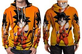 Dragon Ball Z Little Goku Angry Hoodie Zipper Fullprint Men - $46.80