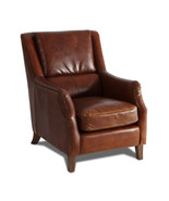 MarquessLife 100% Genuine Leather Single Sofa Antique Handmade Couch - $2,375.15