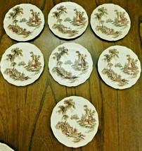 "Lot of 7 JOHNSON BROS THE OLD MILL Dessert Plates 6 1/4"" - $23.79"