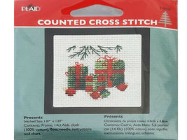 Plaid Counted Cross Stitch Kit With Frame, Set of 4 image 5