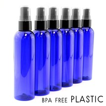 4oz Cobalt Blue Empty Plastic Refillable PET Spray Bottles w/ Fine Mist ... - $12.51