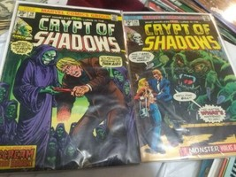 Crypt of Shadows 10 & 20 comic book 1970's Marvel Bronze Age Horror vg/fn-fn - $25.00