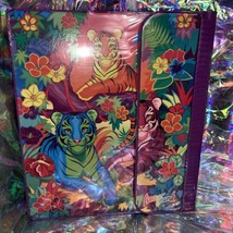 EUC RARE VINTAGE Lisa Frank 3 Ring Trapper Keeper Binder Rainbow Tiger Trio 90s image 1