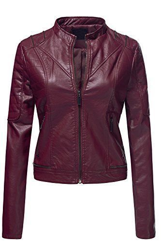 WOMEN BIKER MOTORCYCLE CASUAL SLIM FIT RIDER REAL GENUINE  LEATHER JACKET-A44