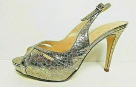 Kate Spade Metallic Snake Embossed Slingbacks Pumps Size 6.5 - $19.75