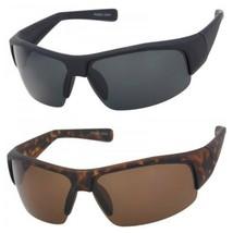 Mens Polarized Half Rim Sunglasses Anti Glare for Fishing Running Outdoo... - $12.56+