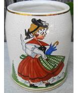 Wiesbaden Germany Glazed Stoneware Mug/Stein Girl w Duck in Mountains - $24.99