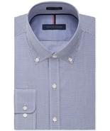 Tommy Hilfiger Ocean Blue Check  Slim Fit Non Iron Dress Shirt - 17 32-33 - $21.95