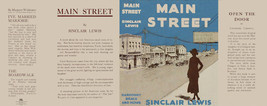Sinclair Lewis MAIN STREET facsimile dust jacket first edition & early b... - $21.56